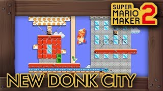 "Super Mario Maker 2 - Incredible ""New Donk City"" Level"