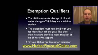 Federal Personal Income Tax Exemptions
