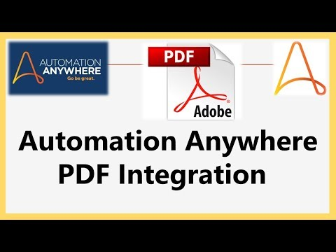 PDF Integration Extract Form Fields - Automation Anywhere 10.7 |Robotics Process Automation |