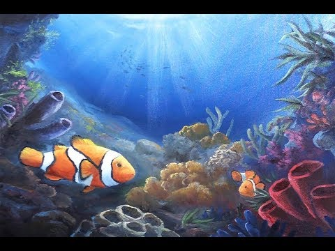 Clownfish In The Reef | Paint With Kevin
