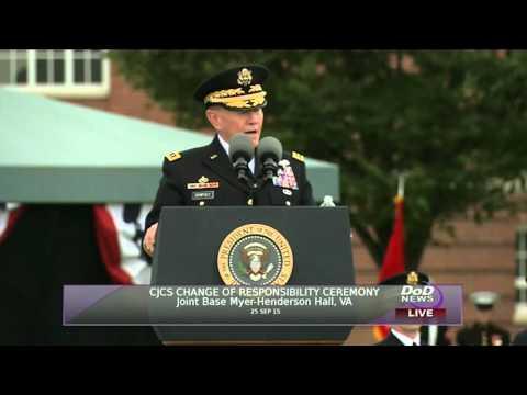 CJCS Retirement and Change of Responsibility Ceremonies: Gen. Dempsey's speech