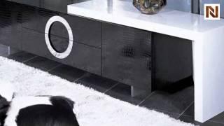 Armani Xavira Modern Lacquer Tv Stand Black Vgunaa522-180-blk