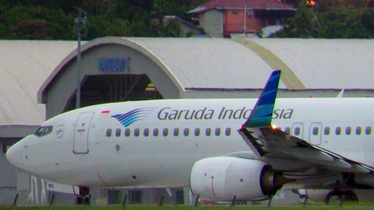Keren, Lihat Pesawat Garuda Indonesia Besar Take Off