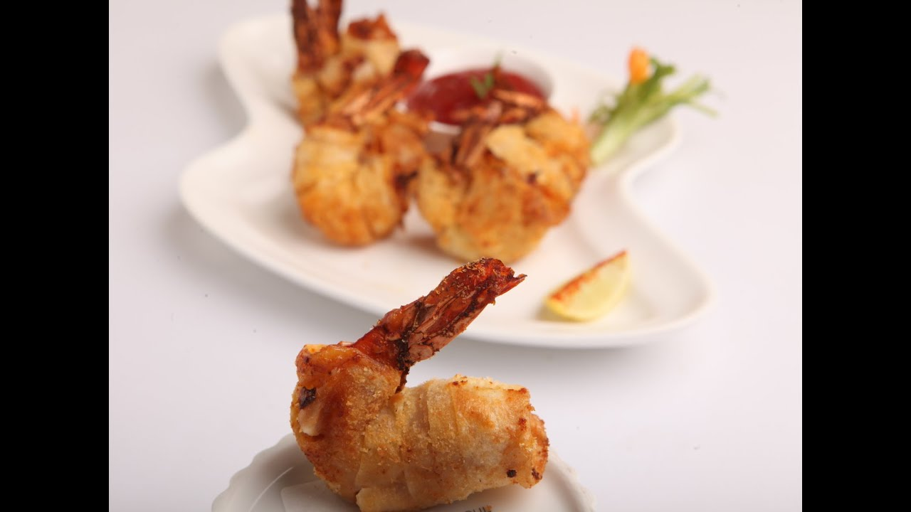 PHILIPS AIR FRYER DRAGON WRAPPED PRAWNS