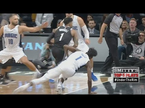 D'Angelo Russell Got Isaac Leaning! Vucevic 41 Points! Magic vs Nets 2017-18 Season