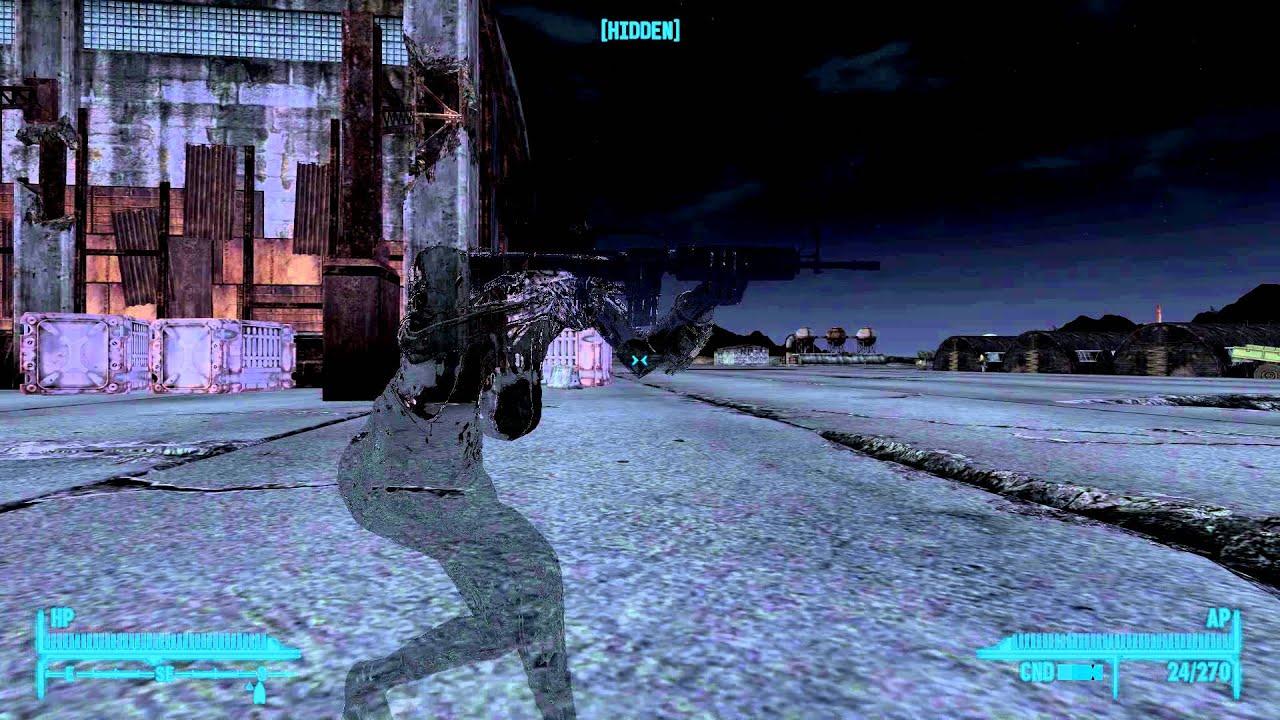 Fallout New Vegas Bnb Mod Stealth Armor Youtube
