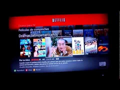 Prueba Netflix en XBOX 360 (México)