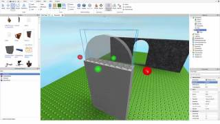 How to Make an Arch Using Roblox Studio
