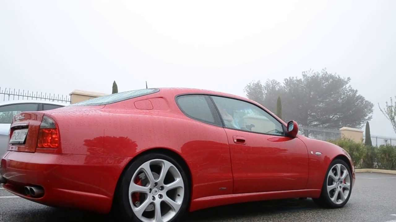Red Maserati 4200 GT Start & LOUD Sound! (HD) - YouTube