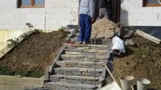 Murovanie schodov