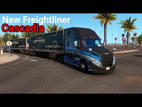 2021 Frightliner Cascadia|Turnpike Double Trailers American Truck Simulator|SCS Software Gameplay |