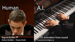 A.I. Generated 3D Virtual Concerts from Sound