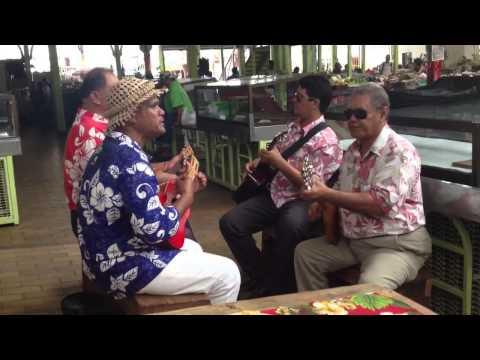 Musique au marché de Papeete