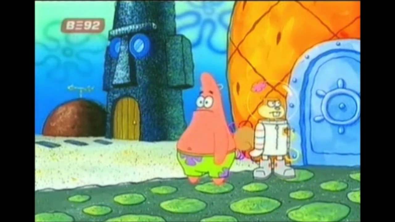 """Patrick star sings """"Backyard beach"""" from Phineas and Ferb ..."""