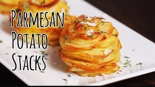 How to Make Parmesan Potato Stacks