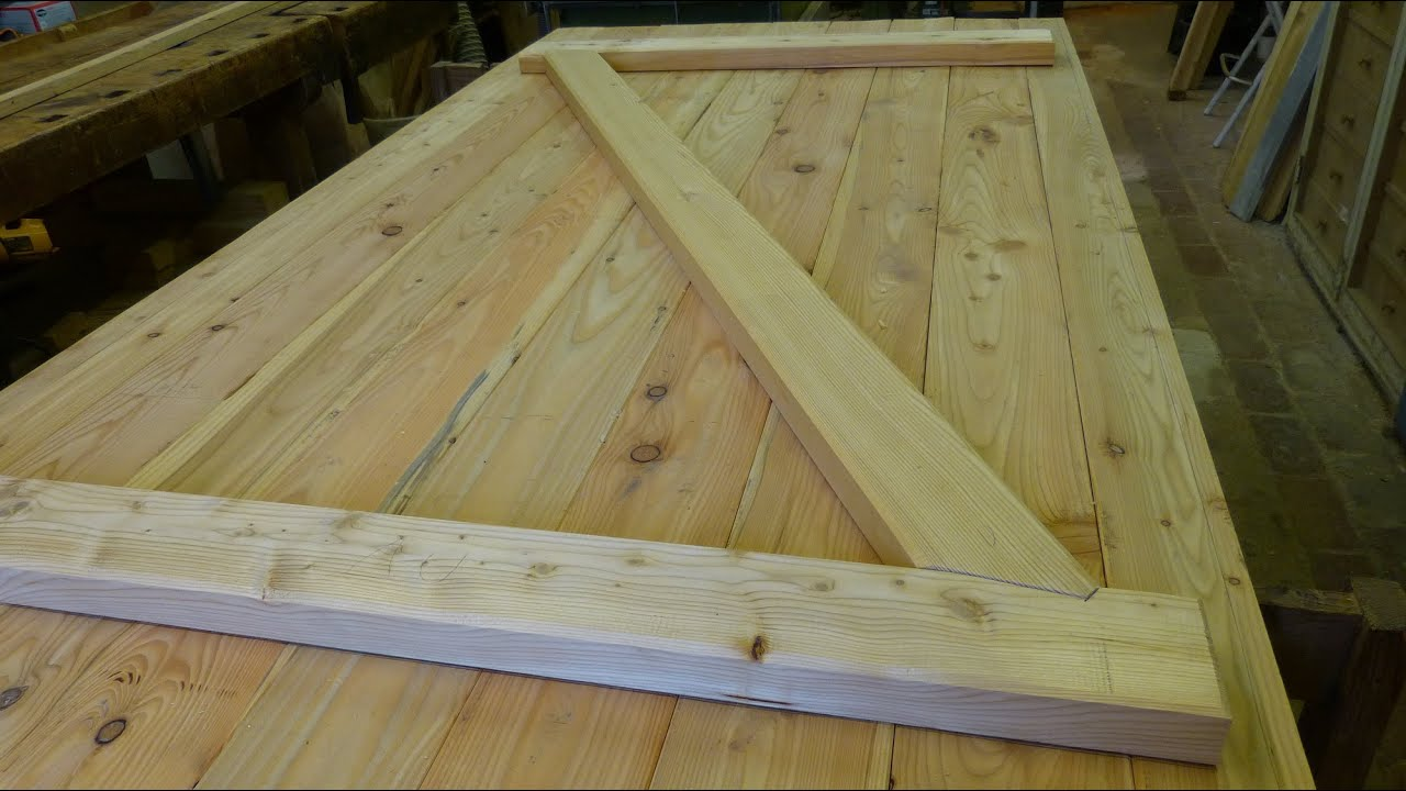 Perfekt Brettertüre Mit Versatz Selber Herstellen, Building A Batten Wood Door With  Step Joint   YouTube