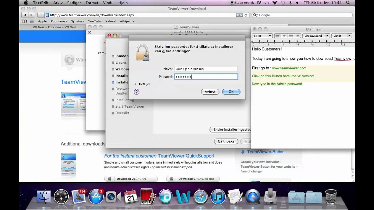 Install teamviewer on mac