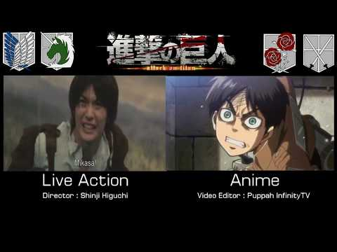 Image result for anime live actions attack