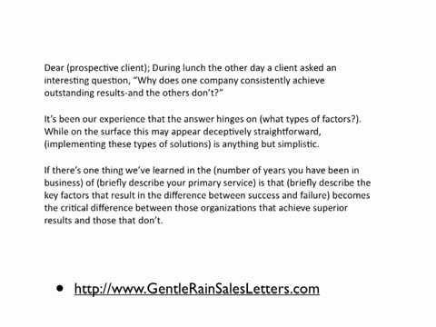 B2B Sales Letter Template - YouTube - product sales letter sample