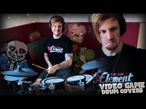 PLAYING VIDEO GAME TRACKS ON DRUMS. (#2) |