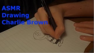 [ASMR] Drawing: Charlie Brown And Snoopy!
