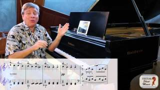 Piano Lesson - How to Cross Hands on the piano - Pathetique Sonata