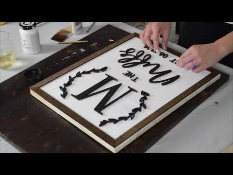 DIY Custom Family Sign Craft - Trailer