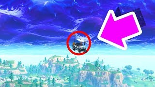 THIS HAPPENS when you drive into a Fortnite rift..!!