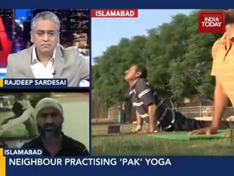 Pakistan practising yoga