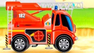 Lehrreicher Zeichentrickfilm - Das Feuerwehrauto - Thematica application for children