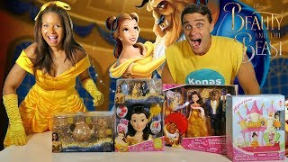Beauty & The Beast Toy Challenge With Princess Belle ! || Toy Review || Konas2002