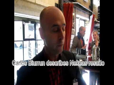 Carlos Biurrun describes Nekeas rosado wine.swf