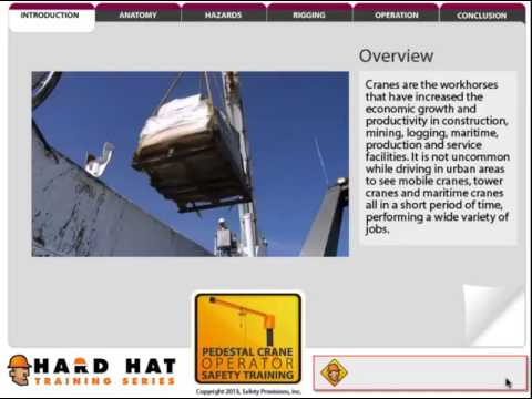 Online Pedestal Crane Safety Training