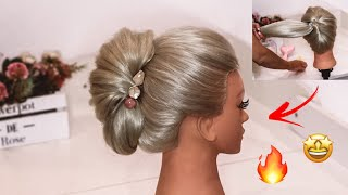 Красивая ПРИЧЕСКА РАКУШКА за 5 минут Просто и быстро Beautyful Hairstyle FRENCH TWIST BUN UPDO
