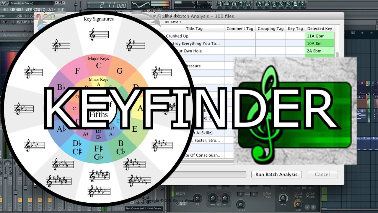 HOW TO KEY A SONG WITH KEYFINDER #1