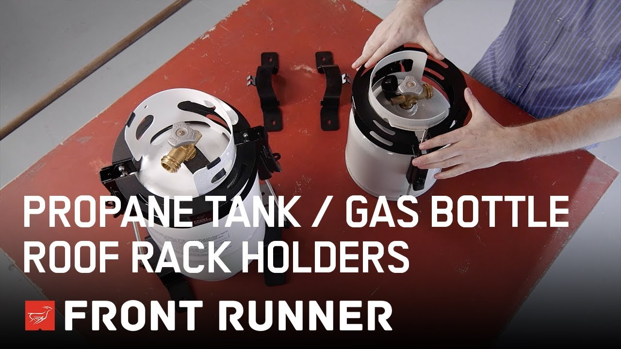 Propane Tank Gas Bottle Roof Rack Holders By Front