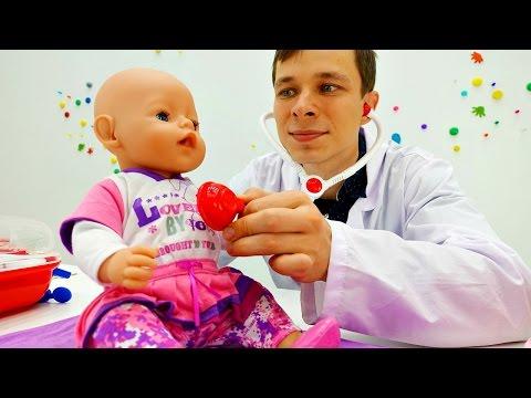 Игры для девочек. Видео куклы. Плановый осмотр Беби Бон ЭМИЛИ в больнице для игрушек. Игры доктор