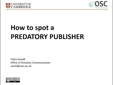 How to Spot a Predatory Publisher