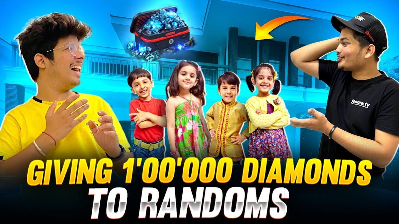 New Free Diamonds Magic Tricks 100% 😱| Giving 50000 Diamonds To Random For Free -Garena Free Fire