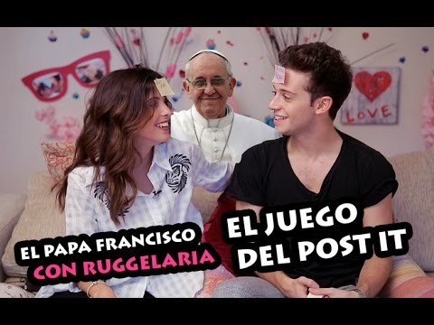 #RUGGELARIA - EL PAPA FRANCISCO CON RUGGELARIA (EL JUEGO DEL POST IT)