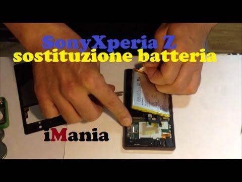 sony xperia z repalce battery sostituzione batteria