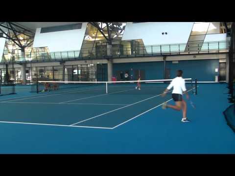 Sasha is playing tennis with Ashleigh Barty