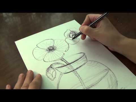 Уроки рисования. Как нарисовать ТЮЛЬПАНЫ букет к 8 МАРТА  how to draw tulip flower