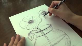 Как нарисовать вазу, розы, сирень. #Рисование ручкой и мелками. How to draw a vase, roses and lilacs(Рисуем букет из цветов в вазе. #Рисование ручкой и цветными мелками. #handmade ПОДПИСЫВАЙТЕСЬ НА КАНАЛ