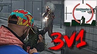 Level 8 DESTROYS Angry Chumps 3v1 (GTA 5 Online)