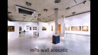 MBA Mila-wall Acoustic – sound demonstration, first without, then with the new mila-wall acoustic