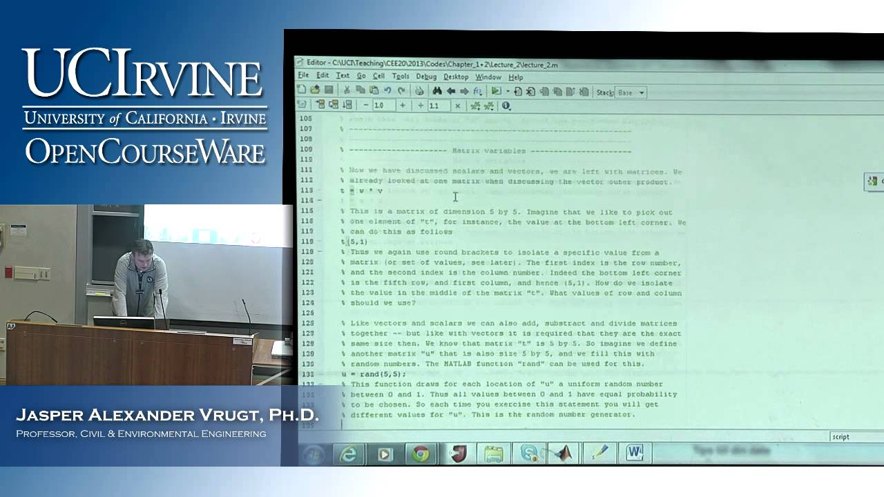 Engineering CEE 20  Lecture 2  Introduction to MATLAB  Part
