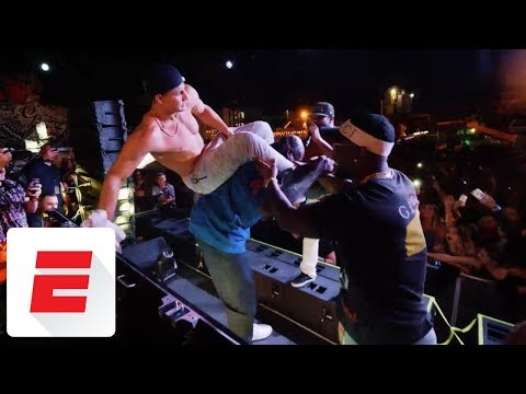 Gronk and Von Miller get wild at 'Shaq's Fun House' in Miami during Ultra Music Festival | ESPN