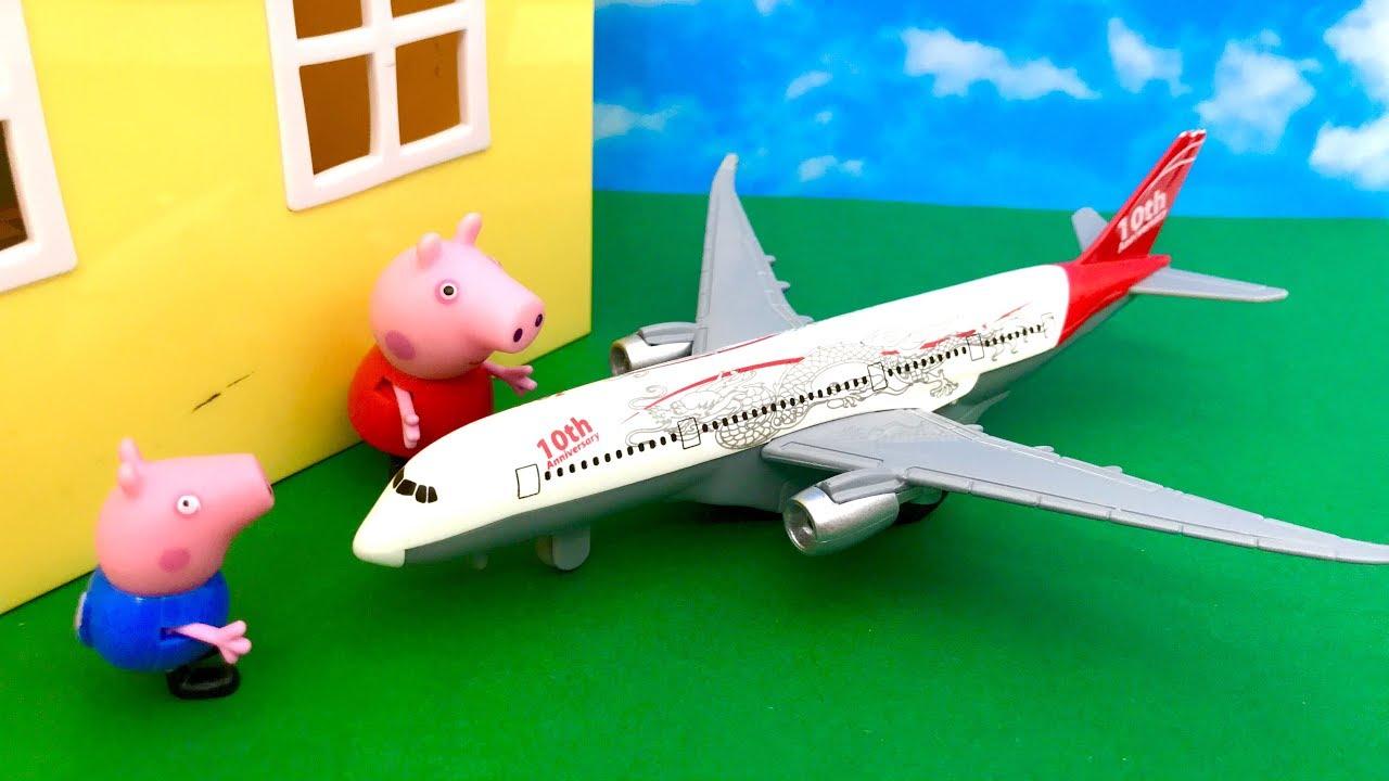 Świnka Peppa i Samolot ☺ Awaryjne lądowanie ☺ Bajka dla dzieci PO POLSKU