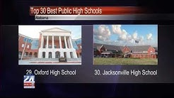 Jacksonville and Oxford High Schools Rank in Top 30 Best Public Schools
